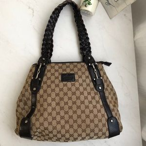 Handbags - Gucci Designer Monogram Horsebit Shoulder Bag